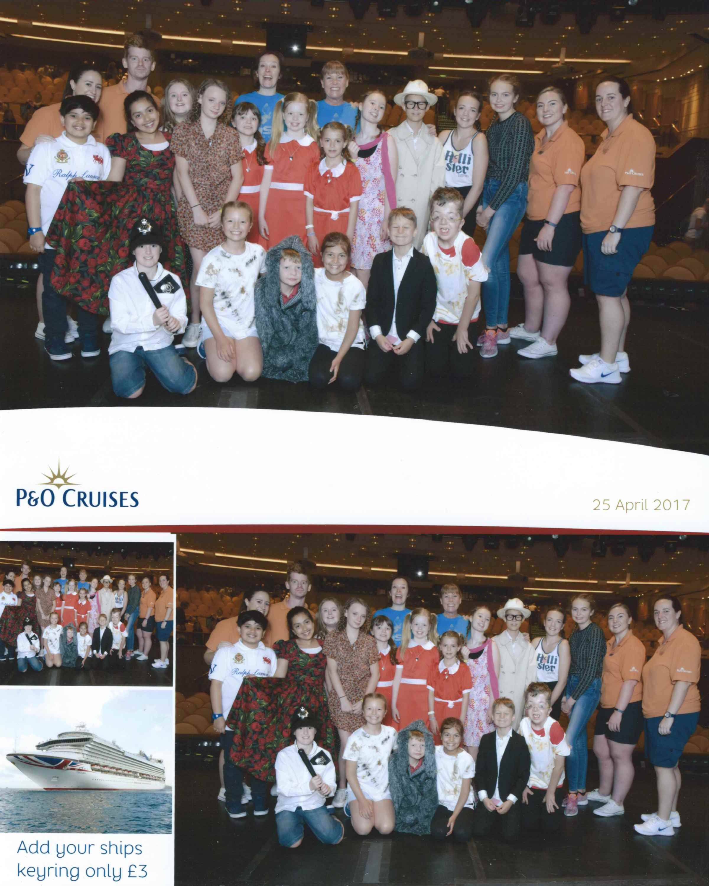 RISE Studios performance of Annie onboard P&O April 2017