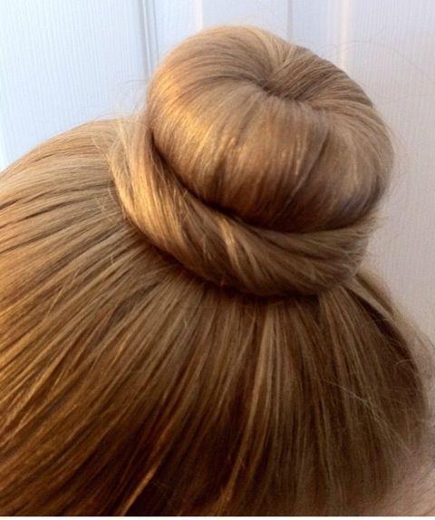 Dancer with hair in a Bun