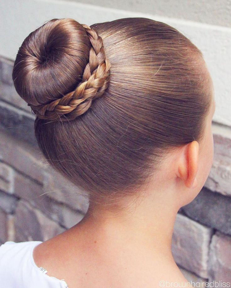 Ballet Bun with Plait