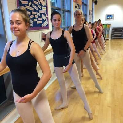 Ballet dancers tendu